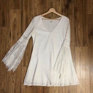 L*Space white bell sleeve dress